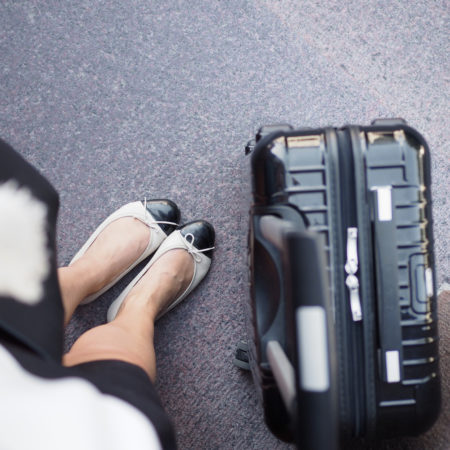 Char and the city - Roadtrip in Finland, Rauma - flats French Sole, suitcase Rimowa