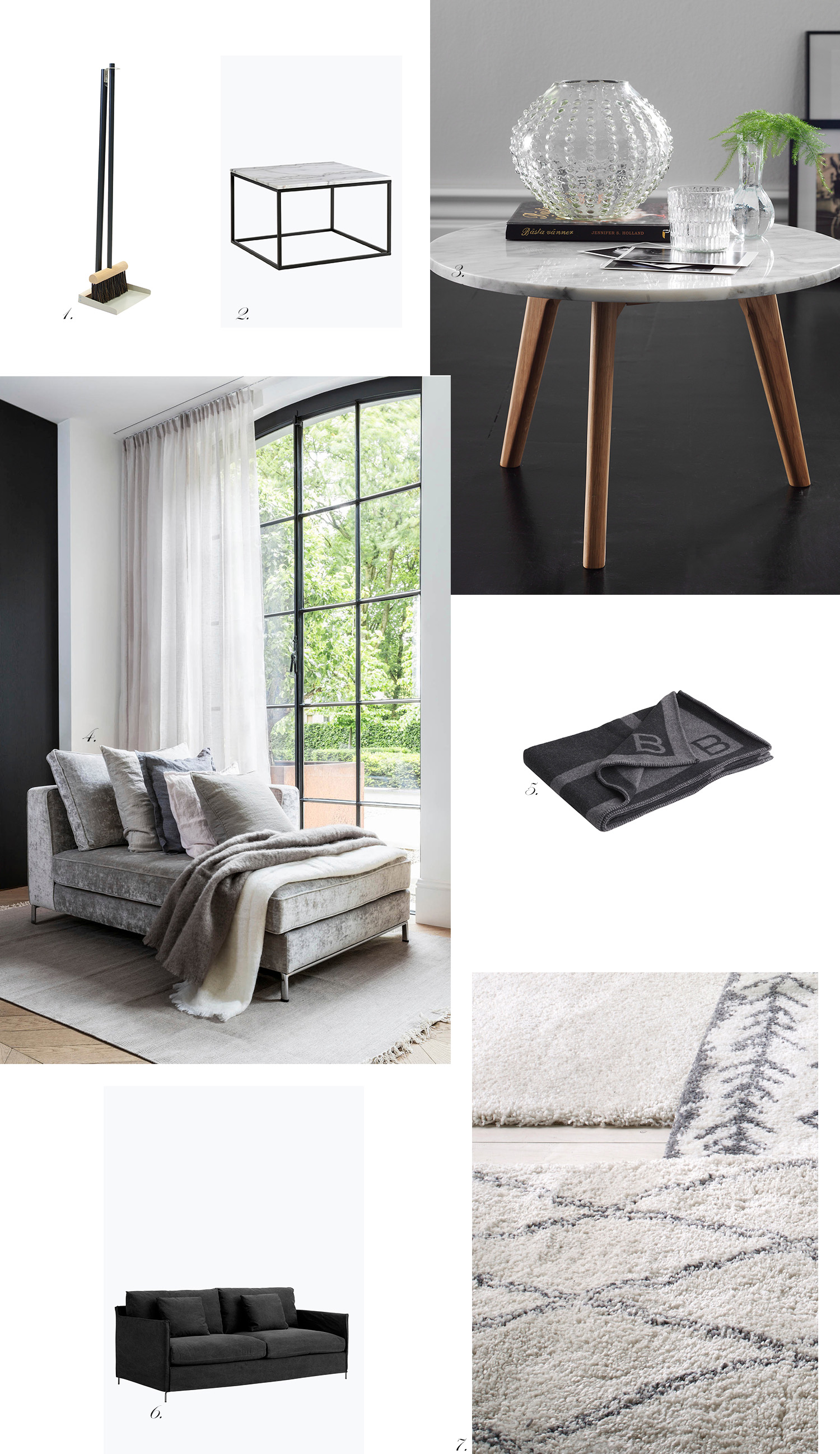 Char and the city - Bachelor pad - ideas for interior design and decoration - inspiration from webshops - grey, black and white - read more on the blog: //www.idealista.fi/charandthecity/2016/09/28/bachelor-pad #bachelorpad #interior #design